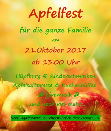 Apfelfest am 21.10.2017