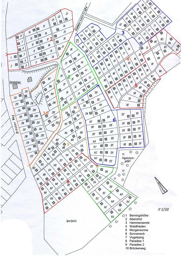 Lageplan für den Bröckerweg