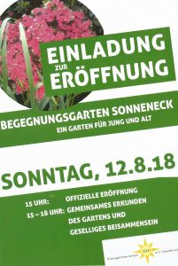 Eröffnung des Begegnungsgartens Sonneneck am 12.8.2018